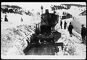 Flanger plowing snow in Cumbres Pass.<br /> D&amp;RGW  Cumbres Pass, CO
