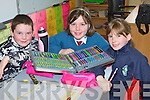 FUN: Having great fun at the Rock Street-Caherslee community games Art Competion at Balloohagh NS, Tralee on Friday seated l-r: Sean Hanafin, Jessica Moynihan and Jenny Fox.
