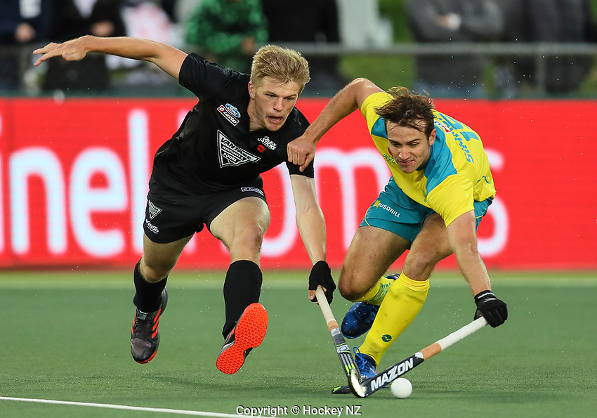 Sam Lane. Pro League Hockey, Vantage Blacksticks Men v Australia, ANZAC test. North Harbour Hockey Stadium, Auckland, New Zealand. Thursday 25 April 2019. Photo: Simon Watts/Hockey NZ