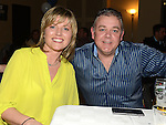 Ivan and Sharon Tolan pictured at the East Meath United celebration night in Laytown and Bettystown golf club. Photo:Colin Bell/pressphotos.ie