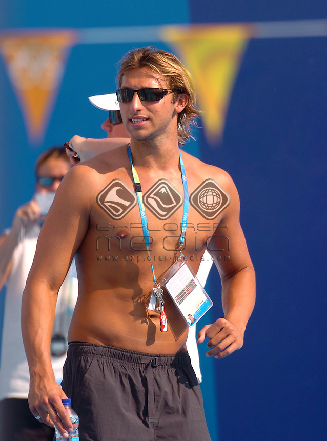 Ian Thorpe<br /> Olympic Swim Training Session in competition pool.<br /> Thurs 12th,  August 2004<br /> 2004 Olympic Games - Athens, Greece<br /> &copy; Sport the library / Courtney Harris