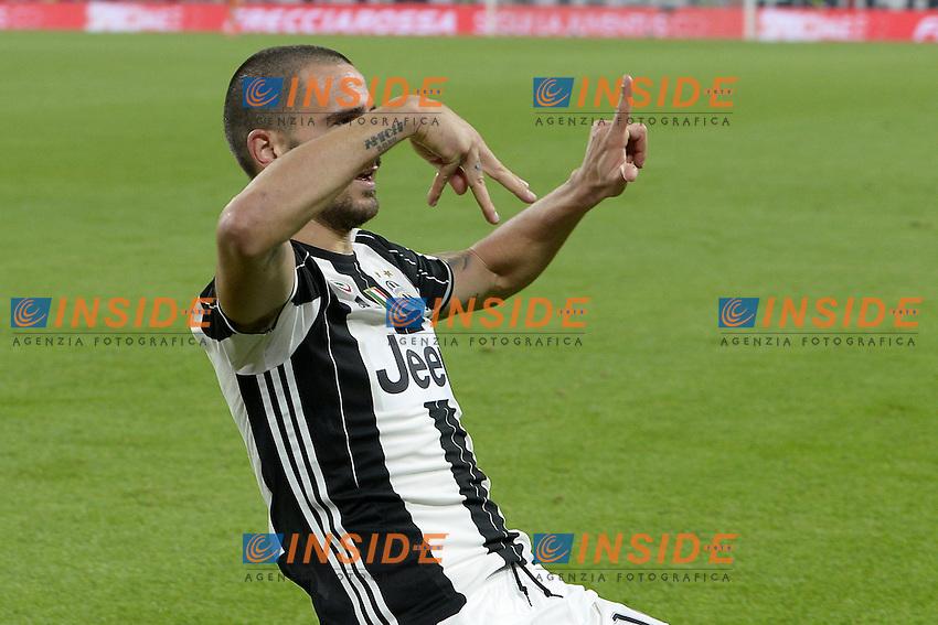 esultanza gol Leonardo Bonucci Juventus Goal celebration <br /> Torino 29-10-2016 Juventus Stadium Football Calcio Serie A 2016/2017 Juventus - Napoli . Foto image Sport/Insidefoto