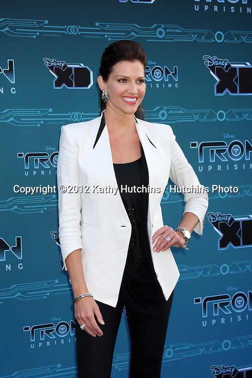 "LOS ANGELES - MAY 12:  Tricia Helfer arrives at the Disney XD's ""TRON: Uprising"" Press Event and Reception at DisneyToon Studios/Disney Television Animation on May 12, 2012 in Glendale, CA"