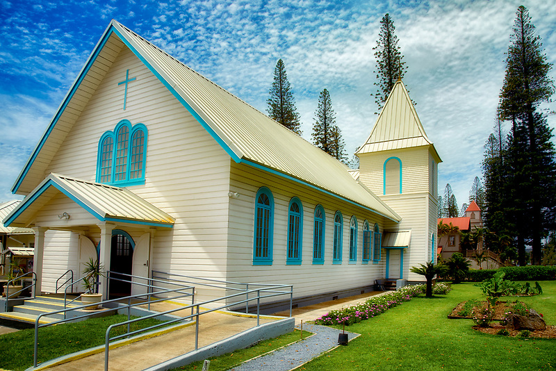 Sacred Hearts Jesus & Mary Catholic Church. Lanai City, Lanai, Hawaii