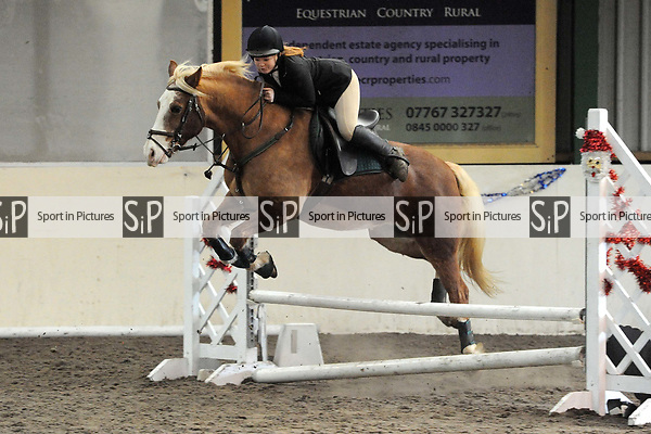 Stapleford Abbotts. United Kingdom. 28 October 2018. Class 6. Christmas Extravaganza showjumping. Brook Farm training centre. Stapleford Abbotts. Essex. UK. 28/10/2018.  MANDATORY Credit Ellen Szalai/Sport in Pictures - NO UNAUTHORISED USE - 07837 394578