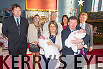 Breda & John Barry from Murreigh, Waterville with their twins Shaun & Mary at their christening in Saint Finian's Church on Sunday 28th December with back l-r; Pardaig Barry, Doreen Turner, Fr. John Keirn, Ann McGillicuddy & Michael Mannion.