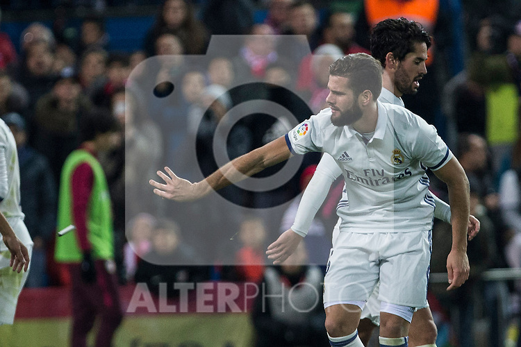 Real Madrid's Nacho Fernandez during the match of La Liga between Atletico de Madrid and Real Madrid at Vicente Calderon Stadium  in Madrid , Spain. November 19, 2016. (ALTERPHOTOS/Rodrigo Jimenez)