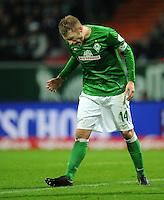 FUSSBALL   1. BUNDESLIGA    SAISON 2012/2013    14. Spieltag   SV Werder Bremen - Bayer 04 Leverkusen                28.11.2012 Aaron Hunt (SV Werder Bremen) ist enttaeuscht