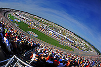 Apr 26, 2009; Talladega, AL, USA; Overall view of the track during the NASCAR Sprint Cup series Aarons 499 at Talladega Superspeedway. Mandatory Credit: Mark J. Rebilas-