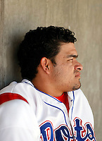 Henry Rodriguez -  Stockton Ports .Photo by:  Bill Mitchell/Four Seam Images