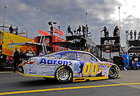 Oct. 15, 2009; Concord, NC, USA; NASCAR Sprint Cup Series driver David Reutimann during practice for the Banking 500 at Lowes Motor Speedway. Mandatory Credit: Mark J. Rebilas-