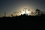 May 21, 2007; Santa Cruz, CA, USA; The sun sets behind the Santa Cruz Beach Boardwalk in Santa Cruz, CA. Photo by: Phillip Carter