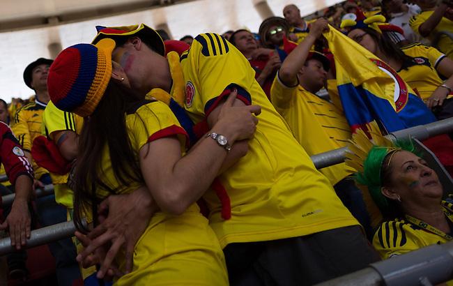 Hinchas de COlombia durante el partido contra Costa de Marfíl.Brasilia.19 Junio 2014. Lorenzo Moscia/Archivolatino