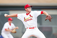 Johnson City Cardinals starting pitcher Landon Beck (23) in action against the Elizabethton Twins at Cardinal Park on July 27, 2014 in Johnson City, Tennessee.  The game was suspended in the top of the 5th inning with the Twins leading the Cardinals 7-6.  (Brian Westerholt/Four Seam Images)