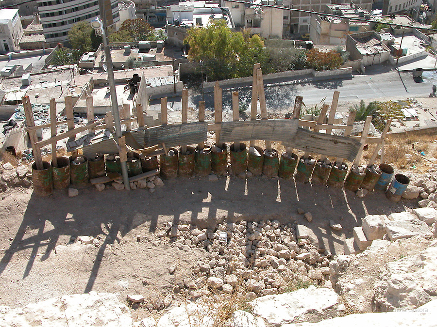 construction works at ummayad palace amman jordan