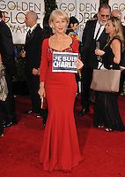 Helen Mirren at the 72nd Annual Golden Globe Awards at the Beverly Hilton Hotel, Beverly Hills.<br /> January 11, 2015  Beverly Hills, CA<br /> Picture: Paul Smith / Featureflash