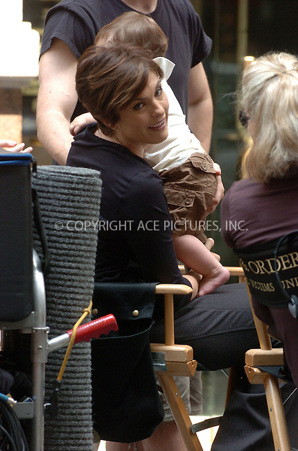 WWW.ACEPIXS.COM . . . . .  ....***EXCLUSIVE TO ACE PICTURES, ALL ROUNDER***....May 31 2007, New York City....Actress Mariska Hargitay was on the set of 'Law and Order, Special Victims Unit' in downtown Manhattan with her son August Miklos Friedrich Hermann who is one this month.........Please byline: AJ Sokalner - ACEPIXS.COM..... *** ***..Ace Pictures, Inc:  ..te: (646) 769 0430..e-mail: info@acepixs.com..web: http://www.acepixs.com