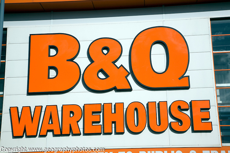 B & Q warehouse shop, Great Yarmouth, Norfolk, England