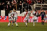 Rayo Vallecano's players celebrate goal during La Liga match between Rayo Vallecano and CD Leganes at Vallecas Stadium in Madrid, Spain. February 04, 2019. (ALTERPHOTOS/A. Perez Meca)