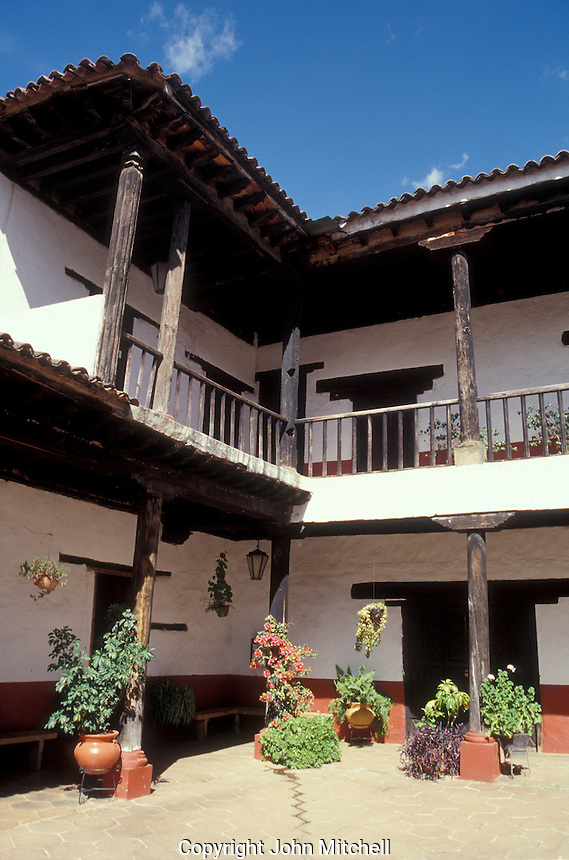 The Casa de los Once Patios or House of the Eleven Patios in Patzcuaro, Michoacan, Mexico. This former Dominican convent now houses a handicrafts workshops and boutiques.
