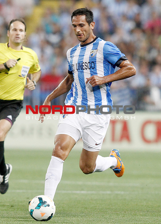 Malaga's Roque Santa Cruz during La Liga match.August 25,2013. Foto © nph / Acero)