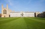 The Georgian period Gibbs building, King's College, Cambridge university, Cambridgeshire, England