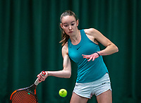 Wateringen, The Netherlands, December 4,  2019, De Rhijenhof , NOJK 14 and18 years, Lois van de Fliert (NED)<br /> Photo: www.tennisimages.com/Henk Koster