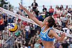 31.05.2015, Moskau, Vodny Stadion<br /> Moskau Grand Slam, Main Draw / Spiel Platz 3/4<br /> <br /> Block Viktoria Orsi Toth (#2 ITA)<br /> <br />   Foto &copy; nordphoto / Kurth