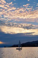 Sunset over Lac Leman (lake Geneva) - Montraux Switzerland
