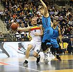 19.03.2019, Mercedes Benz Arena, Berlin, GER, EuroLeague/EuroCup, ALBA ERLIN vs.  MoraBanc Andorra, <br /> im Bild Peyton Siva (ALBA Berlin #3), Mokas Giedraitis (ALBA Berlin #31),<br /> Rafa Luz (Andorra #5)<br /> <br />      <br /> Foto © nordphoto / Engler