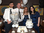 David and Lorna Bradley celebrating their 25th wedding anniversary in Annie's Cafe and Wine Bar in Meatmarket Lane with son Brandon and daughter Georgia. Photo:Colin Bell/pressphotos.ie