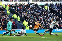 Raul Jimenez of Wolverhampton Wanderers scores the third goal during Tottenham Hotspur vs Wolverhampton Wanderers, Premier League Football at Tottenham Hotspur Stadium on 1st March 2020
