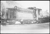 Rear 3/4 view of RGS 2-8-0 #42 at Durango.  Tender has Sunrise lettering.  Defense Supplies Corporation lettering appears on cab and tender.<br /> RGS  Durango, CO  Taken by Arend, Lad G. - ca. 1942-1946