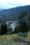 Switchback road near Oliver, British Columbia<br />