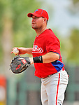 9 March 2012: Philadelphia Phillies infielder Ty Wigginton warms up prior to a Spring Training game against the Detroit Tigers at Joker Marchant Stadium in Lakeland, Florida. The Phillies defeated the Tigers 7-5 in Grapefruit League action. Mandatory Credit: Ed Wolfstein Photo