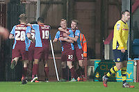 opening goal celebration for Scunthorpe<br />  - Scunthorpe United vs Rochdale - Sky Bet League One Football at Glanford Park, Scunthorpe, Lincolnshire - 26/12/14 - MANDATORY CREDIT: Mark Hodsman/TGSPHOTO - Self billing applies where appropriate - contact@tgsphoto.co.uk - NO UNPAID USE
