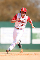 February 21, 2009:  Shortstop Joe Panik (2) of St. John's University during the Big East-Big Ten Challenge at Jack Russell Stadium in Clearwater, FL.  Photo by:  Mike Janes/Four Seam Images
