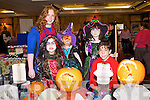 HALLOWEEN FAIR: Carol Hickson of Creative Recycling, Tralee and Nicole Walker, Ruby Higgins, Gemma Higgins and Adam Walker, Ballymac at the Halloween and Craft fair at the Meadowlands hotel, Tralee on Sunday.