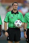 03 July 2012: Match referee Mark Kadlecik. The Carolina RailHawks defeated the Atlanta Silverbacks 2-1 at WakeMed Soccer Stadium in Cary, NC in a 2012 North American Soccer League (NASL) regular season game.