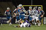 San Francisco Dragons vs Los Angeles Riptide.Lebard Stadium, Orange Coast College,Huntington Beach, California.D.J. Driscoll (#36), Jake Byrne (# 10) and Tim Booth (# 3).506P1163.JPG.CREDIT: Dirk Dewachter