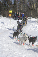 Liz Parrish Anchorage Start Iditarod 2008.