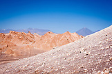 CHILE, Atacama Desert, Road and Sand dunes in the Valley of the Moon