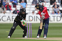 Ravi Bopara of Essex is bowled out by Tom Smith during Essex Eagles vs Gloucestershire, Royal London One-Day Cup Cricket at The Cloudfm County Ground on 7th May 2019