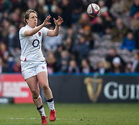 England Women's Katy Daley-Mclean in action during todays match<br /> <br /> Photographer Bob Bradford/CameraSport<br /> <br /> 2020 Women's Six Nations Championship - England v Wales - Saturday 7th March 2020 - The Stoop - London<br /> <br /> World Copyright © 2020 CameraSport. All rights reserved. 43 Linden Ave. Countesthorpe. Leicester. England. LE8 5PG - Tel: +44 (0) 116 277 4147 - admin@camerasport.com - www.camerasport.com