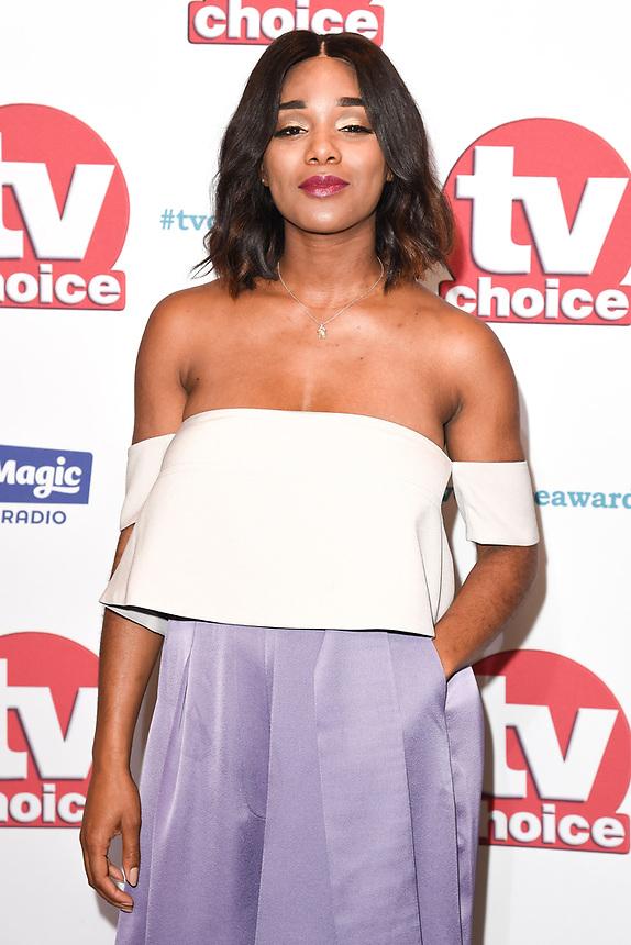 Rachel Adedeji<br /> arriving for the TV Choice Awards 2017 at The Dorchester Hotel, London. <br /> <br /> <br /> ©Ash Knotek  D3303  04/09/2017