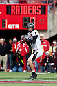 17 October 2009: Texas Tech quarterback Steven Sheffield steps back for a pass in the first quarter  against Nebraska at Memorial Stadium, Lincoln, Nebraska. Texas Tech defeats Nebraska 31 to 10.