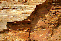 close up textures and layers of Sandstone schists on the Island of Ios, Cyclades Islands, Greece