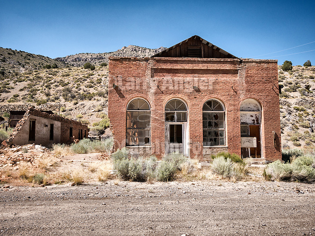 Old general store ruins, Ghost town of Tybo, Nev., in the Hot Springs Range.<br /> <br /> Trowbridge General Store from the 1870s.