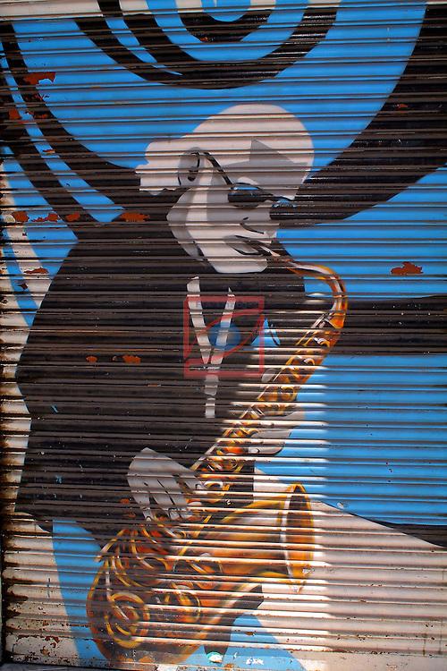 Street Art-Graffittis.<br /> Carrer de Lleida.<br /> Barcelona-Poble Sec (Sans Montjuic).