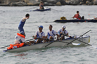 San Remo, ITALY,  Sat.  Men's M4X+, silver medallist,  Men's Coxed Quadruple scull [M4X+],  Ravenna SC [ITA] celebrate  winning the silver in the final, 2008 FISA Coastal World Championships. Saturday 18/10/2008.[Photo, Peter Spurrier/Intersport-images] Coastal Rowing Course: San Remo Beach, San Remo, ITALY Equipment,